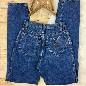 MOSCHINO Vintage High Rise Heart Pocket Jeans